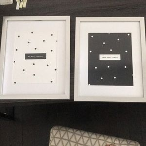Other - Polka Dot Office Print Set with Frames